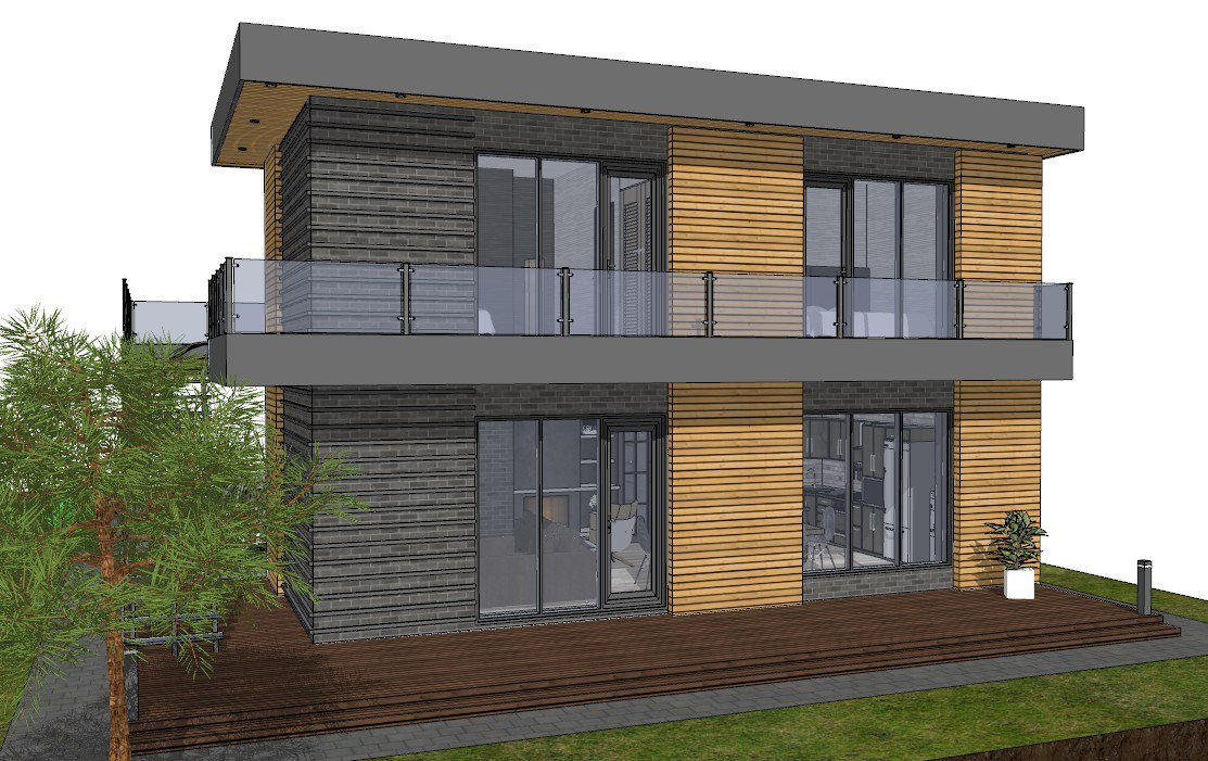 Дом из газобетона проект