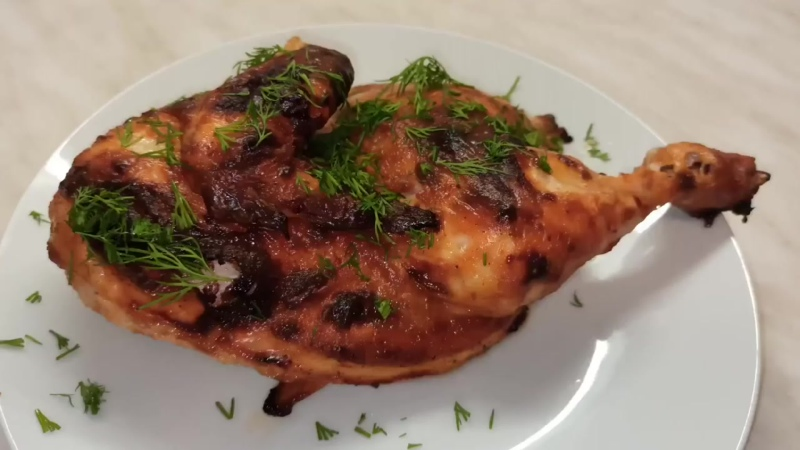 Сочная курица в духовке_так просто и так вкусно