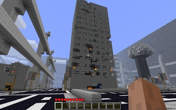 cкачать карту для майнкрафт 183 сомби город #2