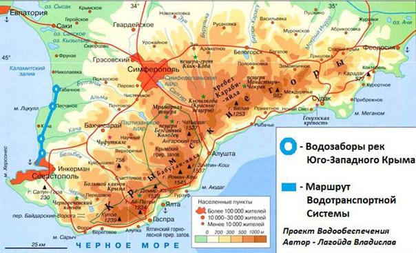 📢 Проект обеспечения бесперебойного водоснабжения Севастополя и Крыма. Эскиз для...