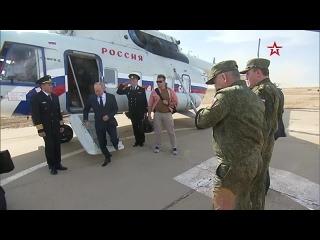 Владимир Путин и Сергей Шойгу прибыли на полигон Капустин Яр