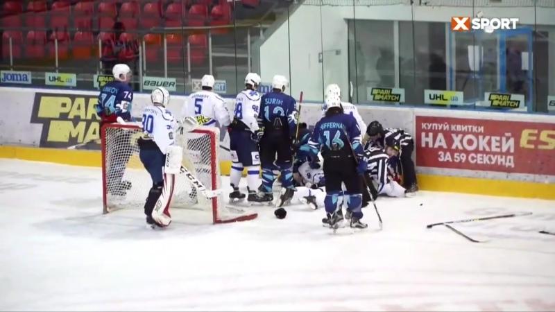 Соколы против Ледяных Волков киевские хоккеисты устроили массовую «бійку» вовремя матча