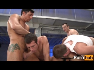 Marc Dylan and men have sperm tub at the fuck-a-thon party