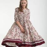 Платье ярусное укороченное с раздельным низом