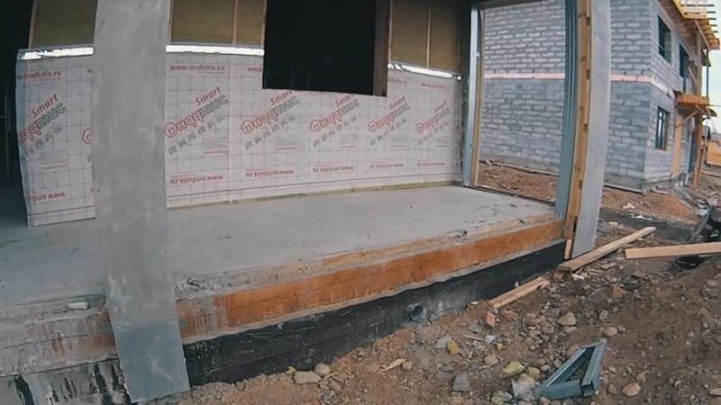 ОТОРВАЛО каркасный дом от фундамента на болоте, ошибки строительства фундамента