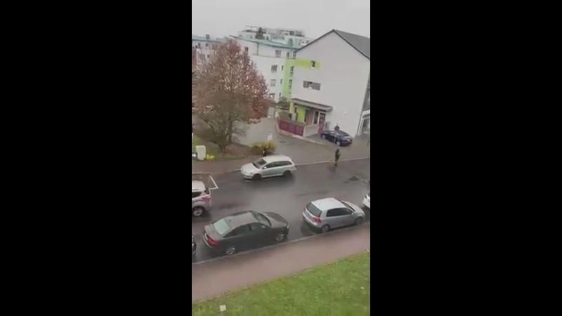 вот видео говорят что в Гамбурге некоторые из полиции с мегафонов предупреждают людей перед вакцинацией билл гейтса