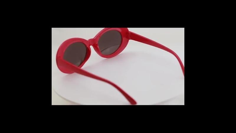 Овальные солнцезащитные очки kurt cobain винтажные для мужчин и женщин черные белые красные