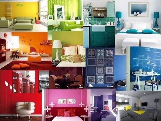 Как цвет интерьера влияет на наше настроение?  1. Красный  Действует...