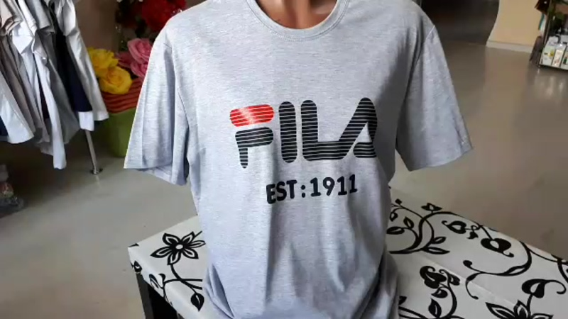 футболка мужская серая с принтом