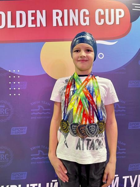 Светлогорский пловец Даниил Мальцев завоевал 7 медалей  на Международном детском турнире по плаванию «Golden