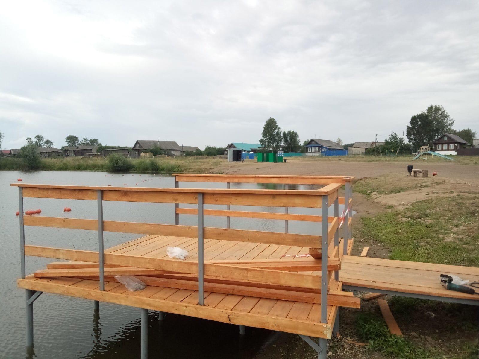 На Пазяльском пруду строят настоящий пирс⛵️