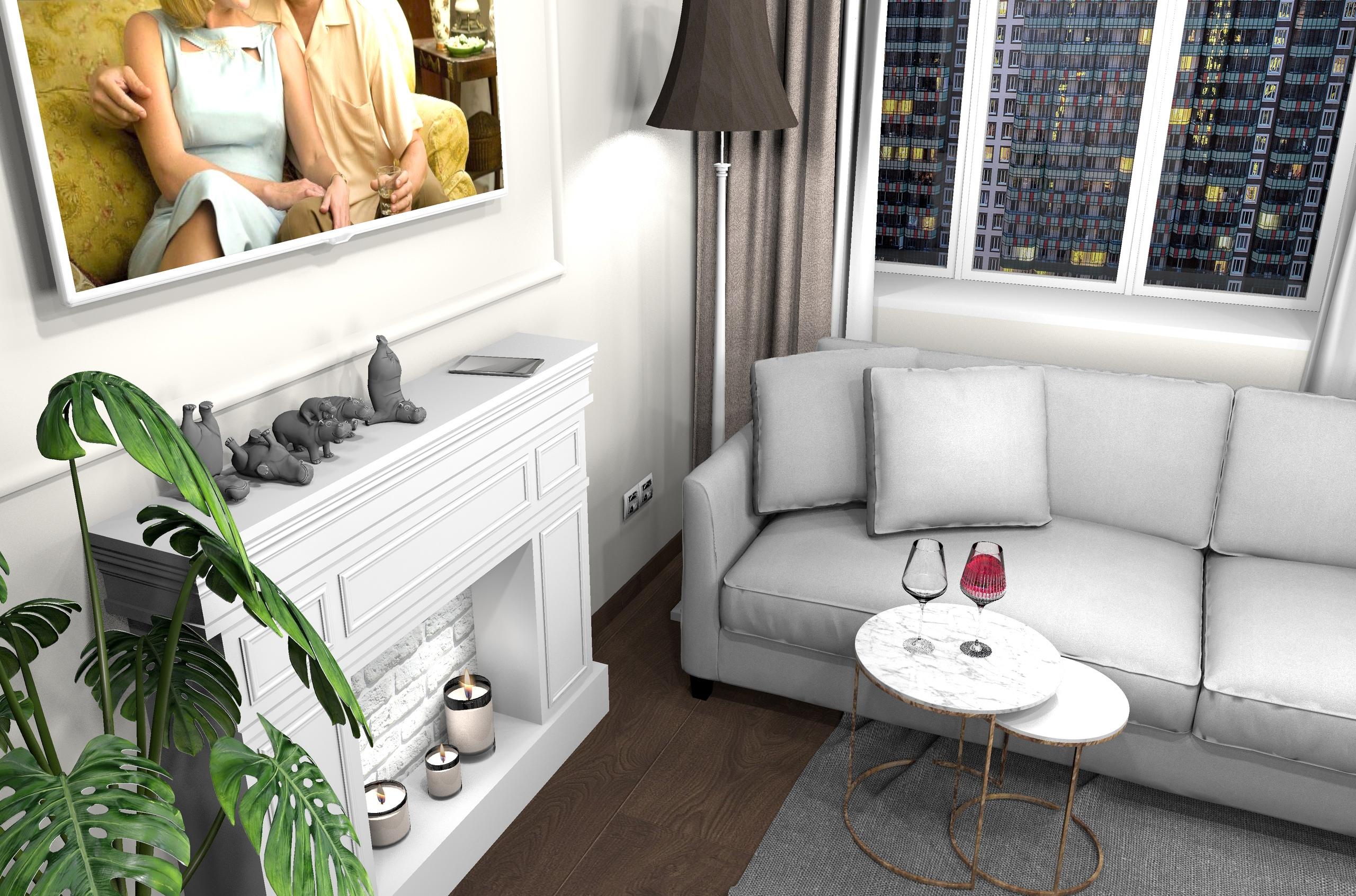 Проект кухни-гостиной в квартире в Санкт-Петербурге , автор Чупов АВ.