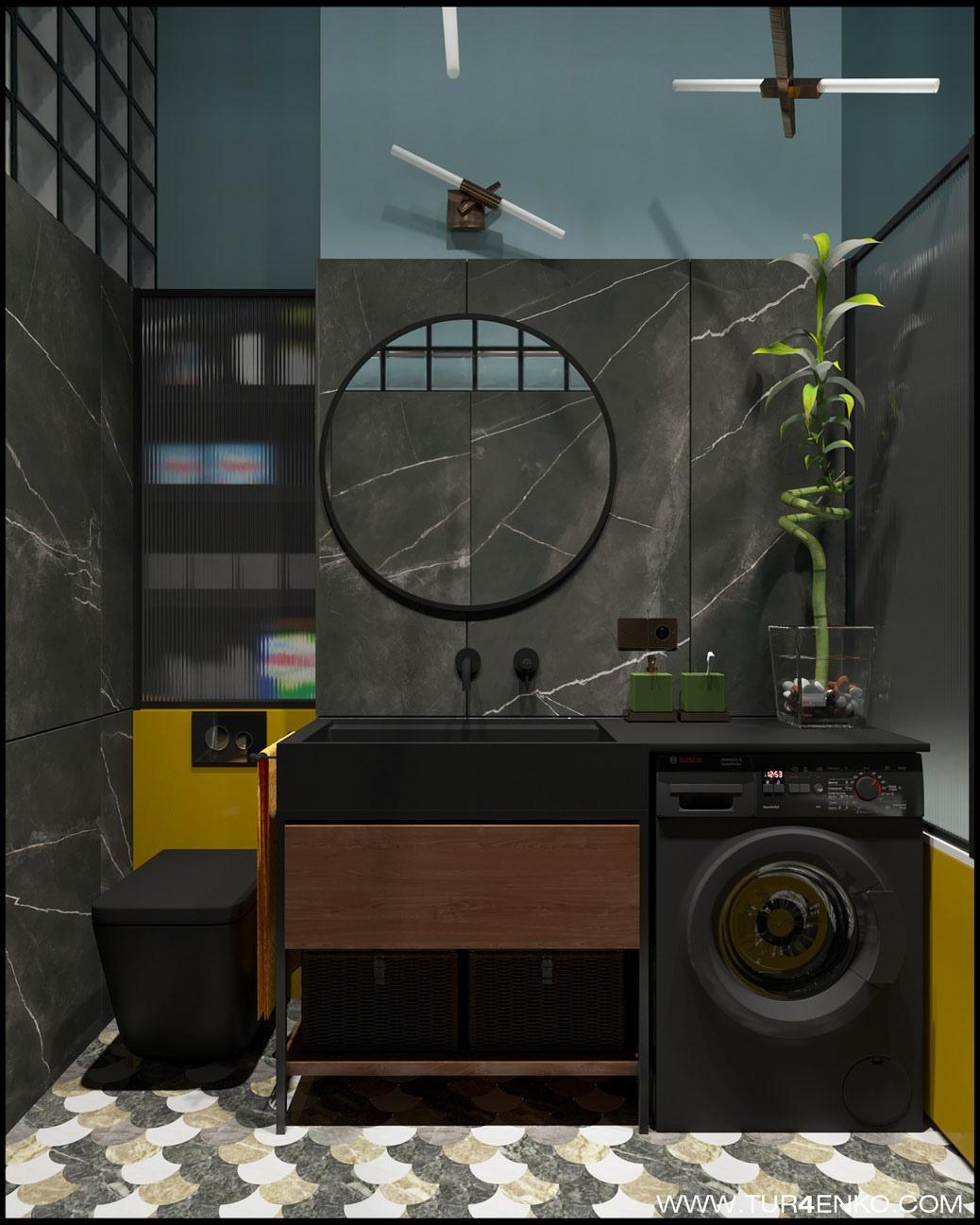 Концепт квартиры-студии 28 кв.