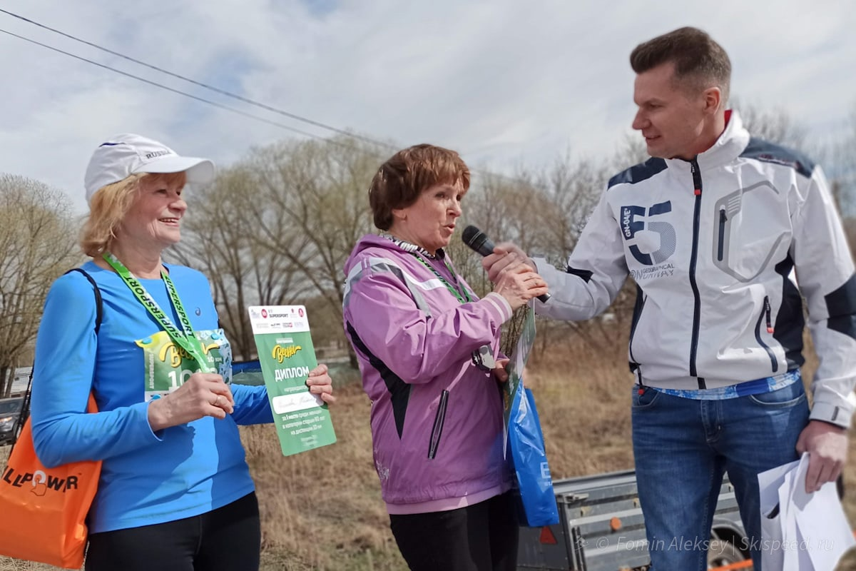 Победители и призёры женщин 60 лет и ст. на 10 км Притяжение весны 2021 (Ярославль)