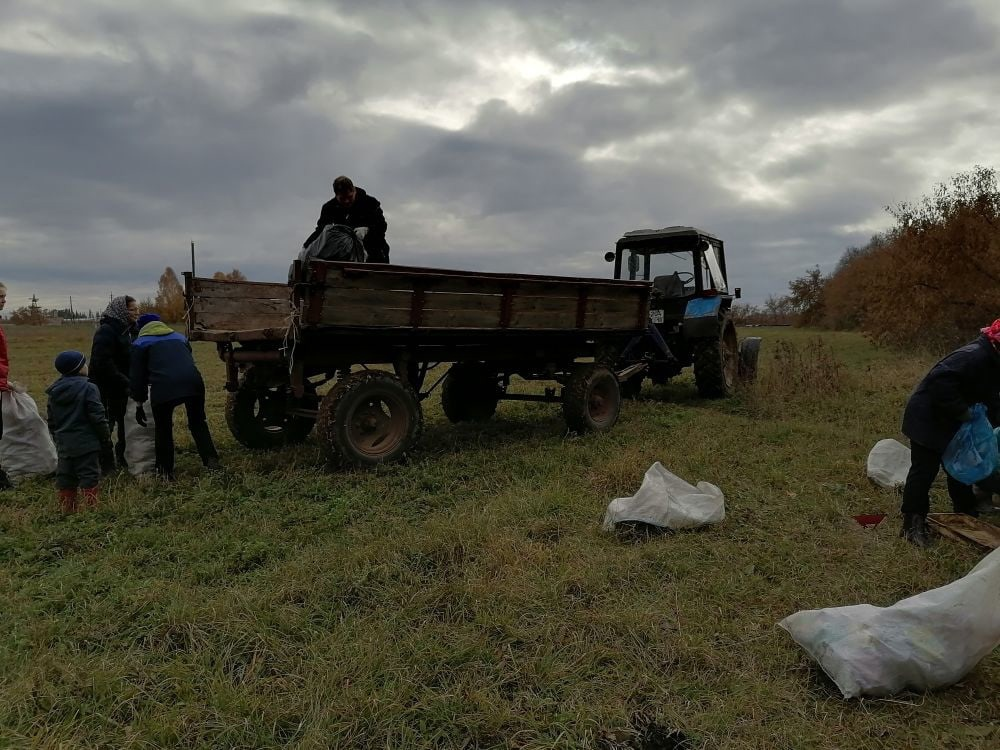 Активные жители деревни Нижний Вишур вышли сегодня