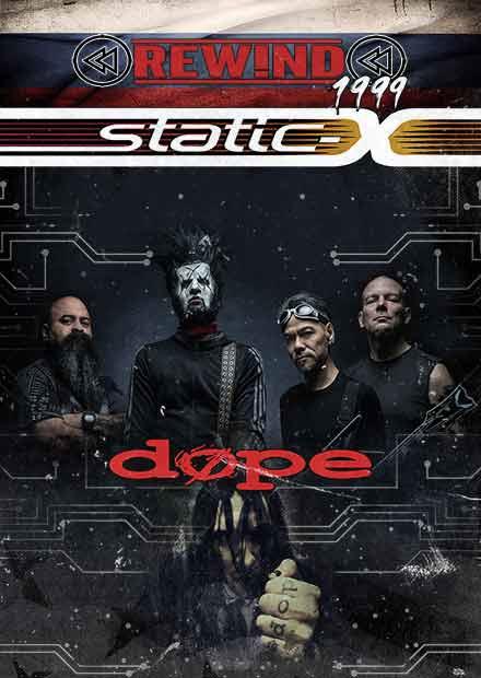 Афиша Челябинск STATIC-X + DOPE /16.09/тур из Челябинска
