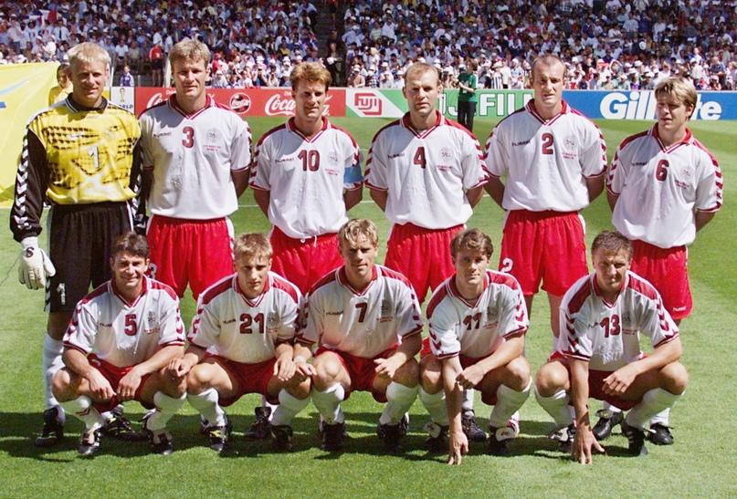 Сборная Дании на Чемпионате мира-1998. Фото: PATRICK KOVARIK