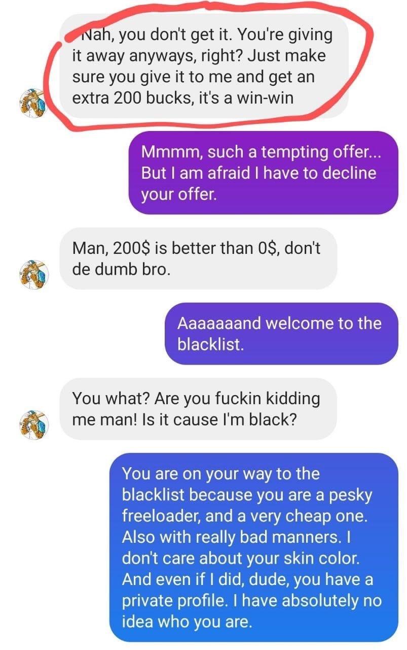 Расистская карта не сработала