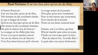Стихотворение на французском №37: Il ne me faut plus qu'un air de flte