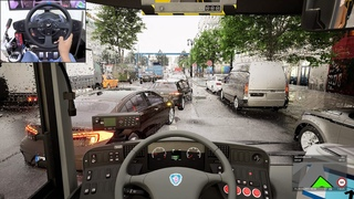 The Bus - Early access gameplay - Dynamic weather | Thrustmaster T300RS