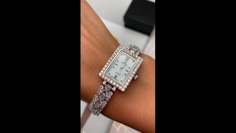 🤤Шикарные часики ✔️серебро 925 ✔️цирконы алмазной огранки ✨✨✨ прямоугольные красавцы