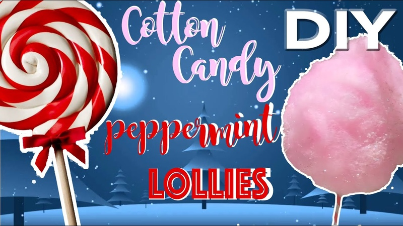 DIY COTTON CANDY GIANT PEPPERMINT LOLLYPOP CHRISTMAS ORNAMENTS! CUTE!