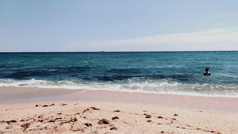 море солнце песок пляж и я за кадром