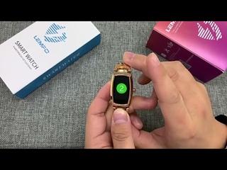 Смарт часы женские фитнес браслет Lemfo H8 PRO с пульсометром, шагомером и счетчиком калорий