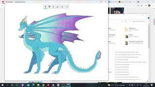 Speedpaint OC dragon/Songs links in description