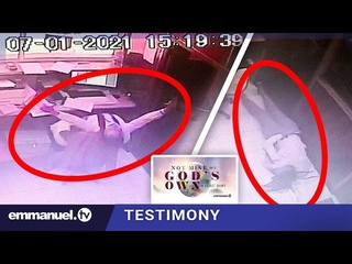 CCTV CAPTURES AMAZING MOMENT LADY FALLS UNDER THE ANOINTING!!!