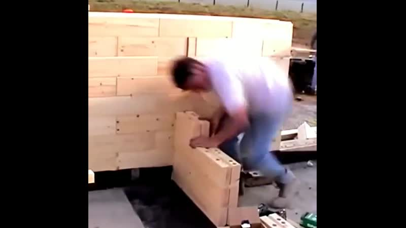 Строительство дома из деревянного кирпича