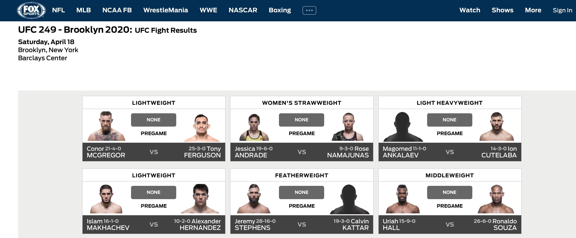 Иллюстрация: сайт телеканала Fox Sports