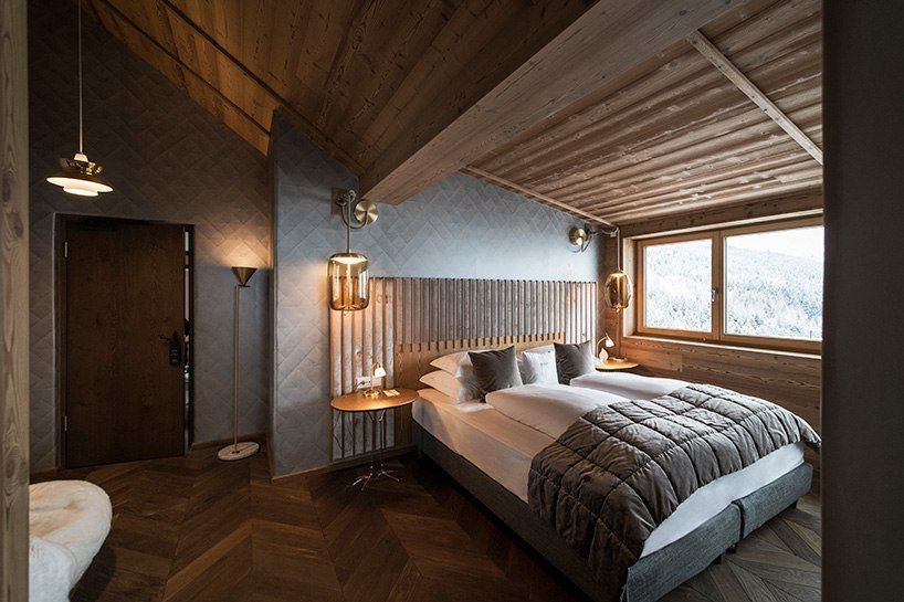 vudafieri-saverino partners' penthouse suite is an oasis of tranquility in the italian dolomites