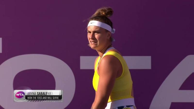 Арина Соболенко против Чжэн Сайсай 1 4 финала Qatar Total Open 2020