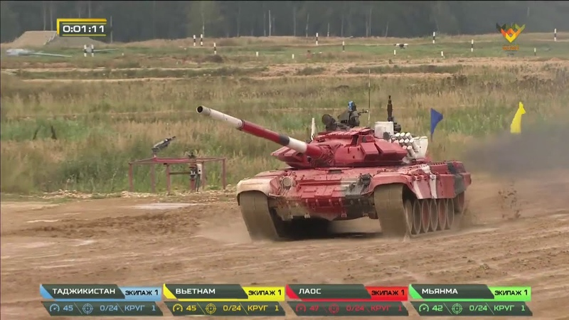 Финал конкурса Танковый биатлон Заезд команд II дивизиона