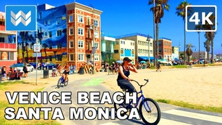 🚴 Venice Beach ● Santa Monica ● Pacific Palisades - Virtual Cycling Bike Ride - California USA 【4K】