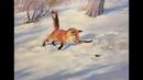 Видео-урок «Лисичка в снегу». Художник Игорь Сахаров