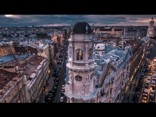 The city of white nights - Saint Petersburg drone video Timelab