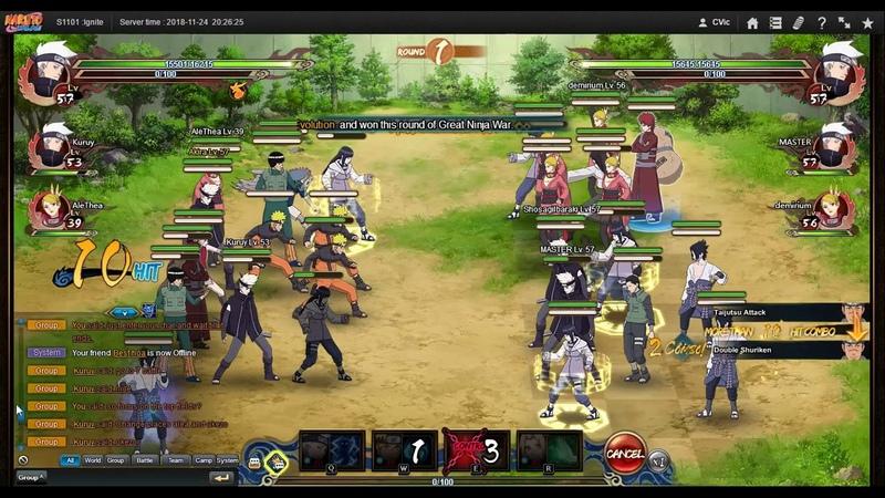 Naruto ナルト Online NS D12 1st Server GNW Finals 2nd Round Tie Breaker