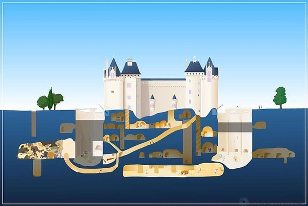 Подземная крепость Шато-де-Брезе