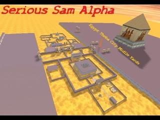 Serious Sam Alpha #2 - Egypt Theba City Midlle Yards