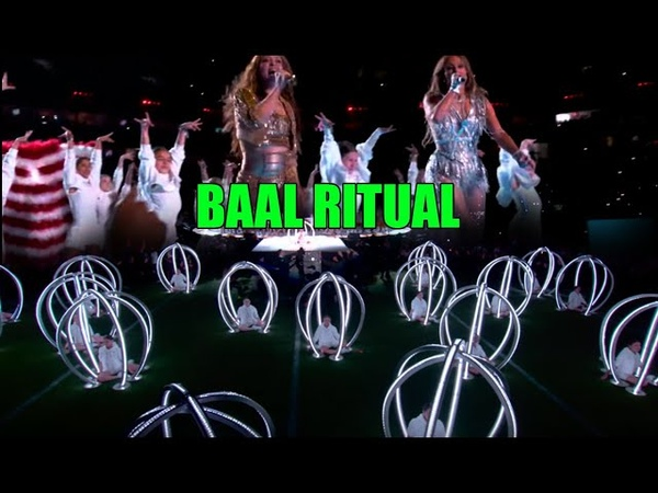 Superbowl 54 BAAL Ritual half-time show J.Lo with Children in Animal Cages! This is Serious