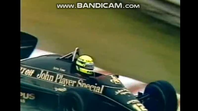 Portugal 85, Ayrton Senna over, de Angelis Mansell