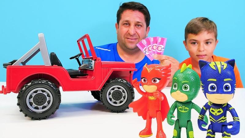 Çocuklar için PJ Masks çizgi film oyuncak videoları Pijamaskeliler ile çocuk oyunları